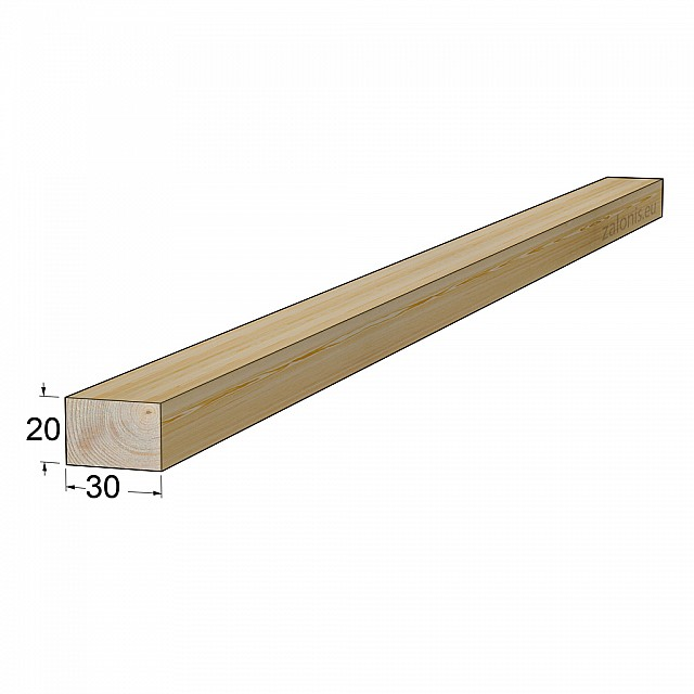 TIMBER SQUARE BEAM 20x30 mm / PINE
